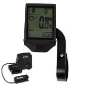 Ciclismo Ordenador inalámbrico Bicicleta Ordenador Cadencia Multifuncional Impermeable Ciclismo Ordenador con retroiluminación LCD