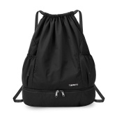 Foldable Drawstring Backpack Sports Gym Bag