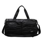 Bolsa unissex de nylon impermeável com compartimento para sapatos separados de grande capacidade multifunções para esportes ao ar livre bolsa de viagem