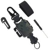 Многофункциональный брелок для ключей Портативный выдвижной брелок для ключей Anti-Lose Anti-Theft Карабин Брелок для ключей