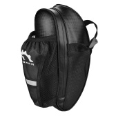 Water Resistant Bike Saddle Bag with Reflective Design Cycling Under Seat Pack with Water Bottle Pouch for Mountain Bike Road Bicycles Storage Bag