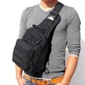 Men Outdoor Backpack Sport Bag Zipper Adjustable Stappy Shoulder Backpack Pouch Chest Bag