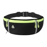 Water-repellent Running Waist Bag with Water Bottle Holder Ultralight Adjustable Waist Belt Pack with Headphone Hole for Walking Travel Cycling Fishing