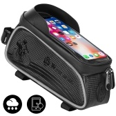WEST BIKING MTB Road Cycling Waterproof Top Tube Bag Touch Screen Bicycle Front Frame Pannier Bag