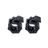 Pair of Barbell Clamps Quick Release Lock 1 Inch Diameter Standard Bar Weight Plates Collar Clips Weightlifting Fitness Training
