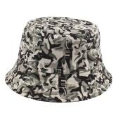 Шляпа-ведро Двусторонняя Солнцезащитная шляпа с камуфляжным принтом букв Складные солнцезащитные кепки для рыбака для путешествий Пешие прогулки Рыбалка на открытом воздухе