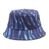 Bucket Hat Multicolor Stripes Pattern Einstellbar Packable Wide Brim Cap Fisherman Cap Beach Travel Fashion