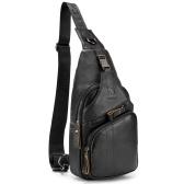 Мужская сумка-слинг, водонепроницаемая, противоугонная, нагрудная сумка из натуральной кожи, сумка через плечо, рюкзак, повседневная сумка-мессенджер