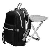 Mochila leve Mochila Combo Mochila com cadeira dobrável para acampamento ao ar livre, pesca, caminhada, piquenique, churrasco