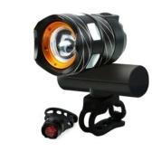 Fahrrad Front Light Bike USB Wiederaufladbares Licht Wasserdichtes Highlight Warnlicht für Mountain Rennrad