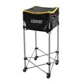 Dispositivo de treinamento de tênis Carrinho de altura ajustável Caixa de armazenamento de bolas de tênis 160 PCS Softball Baseball Bacia de armazenamento de cesta móvel
