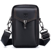 メンズレザーベルトバッグトラベルメッセンジャークロスボディ携帯電話財布財布