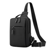 Saco de estilingue masculino bolsa de ombro único bolsa de corpo cruzado bolsa de nylon resistente ao desgaste bolsa de ombro com alça ajustável