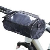 Wasserdichte Fahrrad Lenkertasche Fahrrad Fronttasche Camouflage Touchscreen Handyhalter Tasche Pack Umhängetasche MTB Radfahren Aufbewahrungstasche Pannier