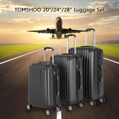 TOMSHOO Fashion 3PCS Luggage Set