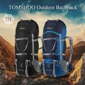 TOMSHOO zaino 70 + 5L Outdoor Sport Impermeabile struttura interna backpacking Trekking Borsa con copertura della pioggia per Climbing escursione di campeggio di viaggio alpinismo