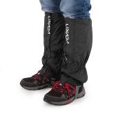 Lixada um par de polainas Outdoor Unisex com zíper de fechamento desgaste e resistente à água pano polainas Leggings Capa para Biking Snowboarding Caminhadas