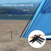 """TOMSHOO 10pcs / lot 18 cm / 7 """"a forma di V Picchetto da tenda campeggio ultraleggero tenda palo con riflettente corda tenda di viaggio esterna Accessori per l"""