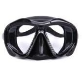メンズレディース防曇ダイビングシュノーケリングは二ウィンドウスキューバダイビングマスクスイムゴーグル水泳強化ガラスレンズの柔軟なシリコーンスカートPCフレーム大人マスクマスク