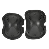 Lixada 4PCS Heavy Duty Outdoor Advanced Protective Pad Set with Knee Pads and Elbow Pads for Paintball Airsoft Adjustable Skate Knee Elbow Pads