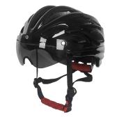 Велосипед Велоспорт Шлем Спорт на открытом воздухе Верховая езда MTB Велосипед безопасности безопасности Шлем со съемными магнитными защитными очками