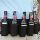 Открытый шестипанельный портативный пивной флакон