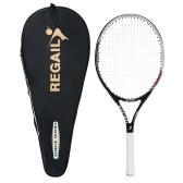 1 Stück Carbon Tennisschläger Indoor Outdoor Praxis Training Tennisschläger mit Abdeckung Tasche