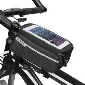 MTB Bicycle Top Tube Phone Bag для 6-дюймового размера велосипеда с футляром для наушников с отверстием для наушников