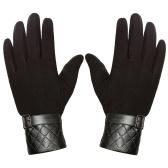 Мужские наружные зимние теплые мягкие перчатки Сенсорный экран Ветрозащитные водонепроницаемые перчатки Зимние виды спорта Текстильные перчатки с флисом Бег походы на лыжах Альпинизм Велоспорт Перчатки