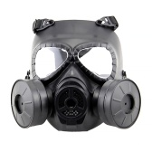 Cosplay CS Wargame Airsoft Dos Fan Safety Gas Mask Tactical Full Face Prop