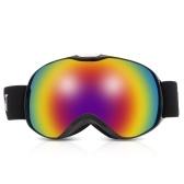 Gafas antideslizamiento esféricas de esquí de doble lente