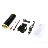 150PSI Bike Electric Pump Bicycle Cycle Air Pressure Inflator Rechargeable Tire Pump MTB Road Bike Motorcycle Car Air Pump Built-in Gauge Emergency Power Bank Flashlight with Car Charger