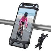 Bicycle Mobile Phone Holder 360° Rotation Adjustable Motorcycle Phone Mount for Bicycle Handlebar Easy to Install Bike Accessories