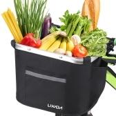 Lixada Collapsible Bike Basket Fahrradlenker Vorderkorb Pet Carrier Bag für den Einkauf Pendeln
