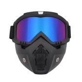 Masque modulaire, lunettes amovibles