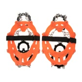 14 Teeth Manganese Steel Crampons Nylon Strap Non-slip Shoes Cover Outdoor Ski Ice Snow Device Hiking