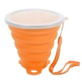 270ml faltbare dehnbare Reise-Wasser-Schale FDA genehmigte Silikon-faltbare faltende Schale im Freien kampierende Sport-erweiterbare Schale