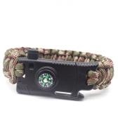 Umbrella Браслет Открытый Многофункциональный ручной веревки Camping Survival Emergency Bracelet red + black