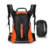 16 л Открытый велосипедный рюкзак с дождевиком Водонепроницаемая сумка для альпинизма Большая емкость Женщины Мужчины Дышащий спортивный рюкзак для бега Для кемпинга Пеший туризм Спортивная сумка Сумка для бега