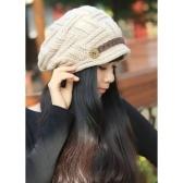 Вязаная плетеная шапка с капюшоном