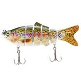 Swimbait Crankbait Hard Bait Fish Treble Hook Tackle
