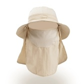 Sun Hat UV Protection Wide Brim Neck Flap Face Cover Multifunctional Cap for Hiking Fishing Beach