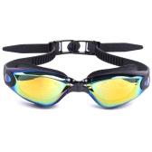 Adult Men's Women's Electroplating Mirrored Coating Anti-fog UV-protection Swimwear Swimming Goggles Sports Swim Goggles Eyewear Glasses with Storage Case