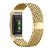 Verstellbare Edelstahl Metall Band einzigartige Magnetverschluss Design keine Schnalle benötigt Zubehör für Fitbit Charge 2 Armband