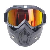 Motorcycle Helmet Glass Retro Half-helmet Mask Windproof Rode Moto Cross Helmets Mask