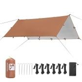 3.2x3 м тент водостойкий брезентовый тент складной навес для кемпинга сверхлегкий пляжный навес от солнца