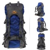 Mochila de deporte al aire libre de 55L bolsa Trekking Camping viaje paquete impermeable montañismo escalada mochila de senderismo
