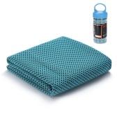 Toalla de enfriamiento para deportes de 12 x 40 pulgadas Toalla de secado absorbente en el sudor absorbente del sudor de secado rápido para secarse las toallas de mano para deportes al aire libre en interiores