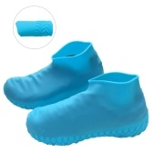 Waterproof Non-Slip Rubber Rain Shoe Covers Reusable Silicone Shoe Covers Fit for Men Women Kids