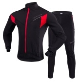 TOMSHOO, мужской комплект одежды для велоспорта, Спорт на открытом воздухе, зимняя теплая флисовая велосипедная куртка с длинным рукавом, штаны, велосипедный костюм